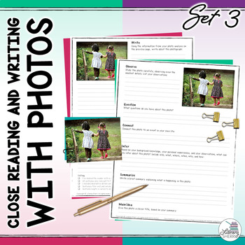 Close Reading and Writing with Photos: Photo Writing Prompts (Set 3 - Spring)