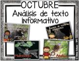 Close Reading en Español - Análisis de texto informativo d
