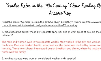 close reading for article gender roles in the th century by  close reading for article gender roles in the 18th century