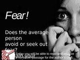 Close Reading for Author's Craft and Structure: Do we avoid or seek out fear?