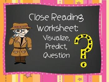 Close Reading for Comprehension worksheet
