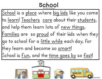 Close Reading for Kindergarten & First Grade: Back to School Quarter 1: Set of 6