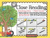 Close Reading for Kindergarten & First Grade: Quarter 4 Spring Set of 6