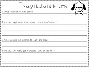 Close Reading for Little Learners {Nursery Rhyme Edition} Part 2
