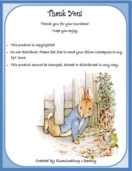 Close Reading in Literature: The Tale of Peter Rabbit