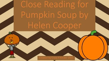 Close Reading for Pumpkin Soup