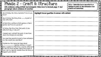 5th Grade Close Reading Booklet (High Order Questions)
