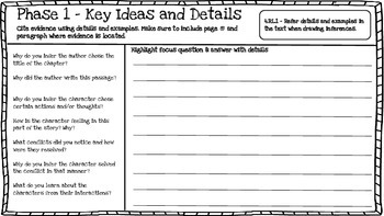 4th Grade Close Reading Booklet (High Order Questions)