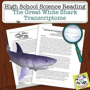 High School Science Reading: Great White Shark Transcriptome - Sub Plan