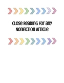 Close Reading for any Nonfiction Article