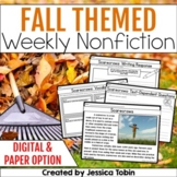 Fall Weekly Nonfiction Reading Passages with Digital (Close Reading Passages)