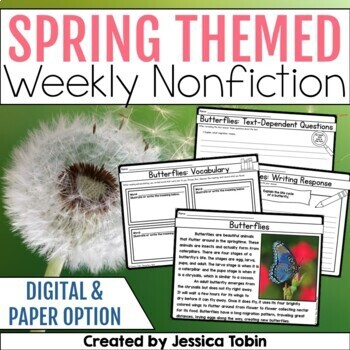 Close Reading; Spring Activities for Reading