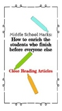 Close Reading in Middle School