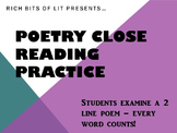 Close Reading Practice Using Poetry