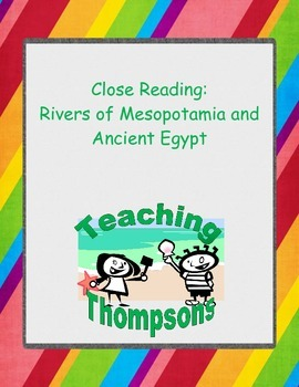 Close Reading of Rivers in Mesopotamia and Ancient Egypt