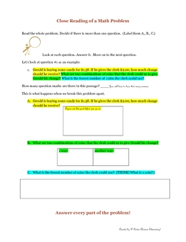 Close Reading of a Math Problem
