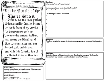 Close Reading of the Preamble