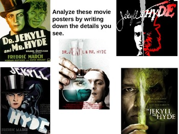 Close Reading of the beginning of Dr. Jekyll and Mr. Hyde using movie posters!