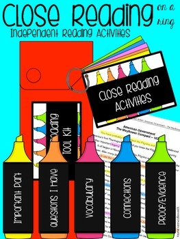 Close Reading on a Ring: Independent Reading Activities Using Close Reading