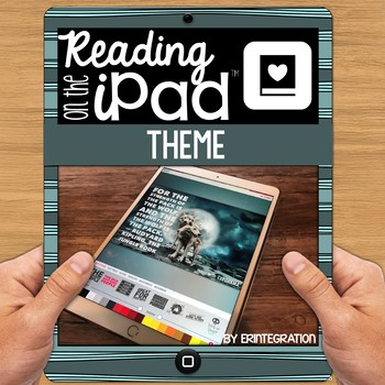 iPad Reading Activity - Determine the theme using text evidence