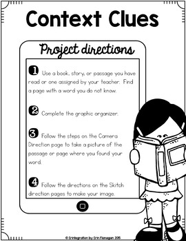 iPad Reading Activity- Use Context Clues to Define Unknown Words