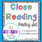 Close Reading Poetry Set