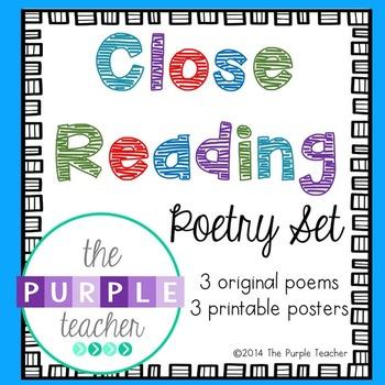 Close Reading Poetry Set