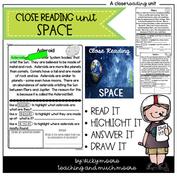 Close Reading { space themed }