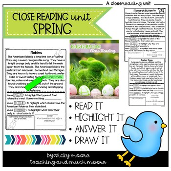 Close Reading { spring themed }