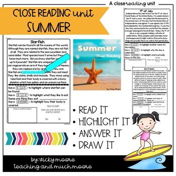 Close Reading { summer themed }