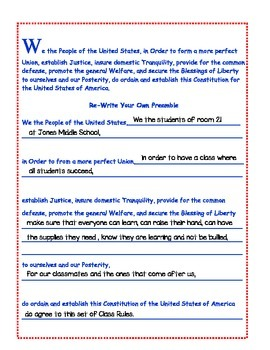 Close Reading the Preamble