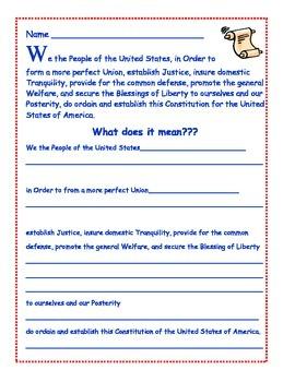 Close Reading the Preamble
