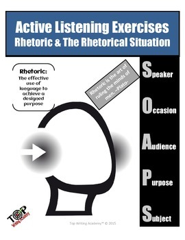 Active Listening Exercises Close Reading: Rhetoric & The Rhetorical Situation
