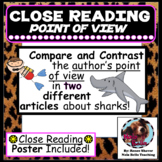 Author's Point of View Compare and Contrast Using Close Reading Lesson