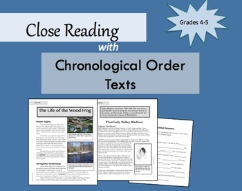 Close Reading with Chronological Order Texts: Grades 4-5