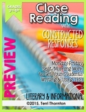 Close Reading with Constructed Response Seat Work: **FREEBIE**