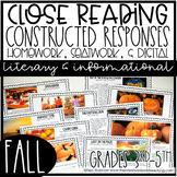 Fall Reading Passages for Homework or Seat Work