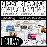 Close Reading with Constructed Response Holiday Passages