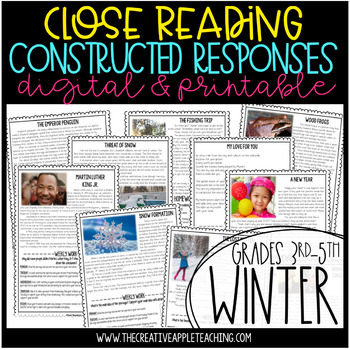 Close Reading with Constructed Response Winter Passages