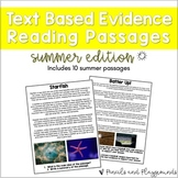 Text Based Evidence Reading Passages - Summer (Incl. Dista