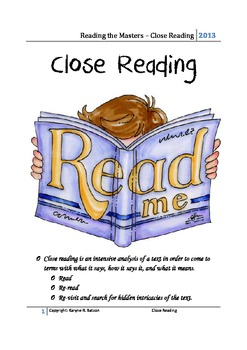 Close Reading - What is it?