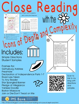 Close Reading with Icons of Depth and Complexity
