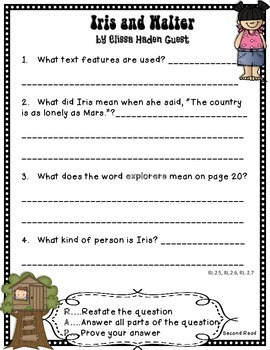 Close Reading with Iris and Walter Reading Street 2nd Grade Freebie