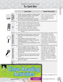 Close Reading with Language Arts Paired Texts