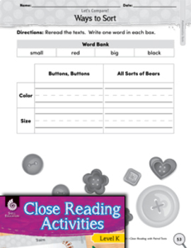 Close Reading with Mathematics Paired Texts