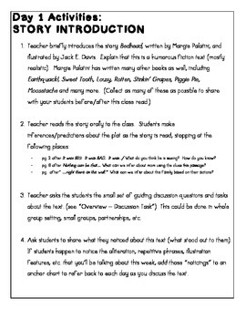 """Close Reading with Picture Books - Guide for """"Bedhead"""" by Margie Palatini"""