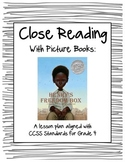 "Close Reading with Picture Books - Lesson Plan for ""Henry'"