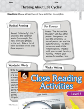 Close Reading with Science Paired Texts