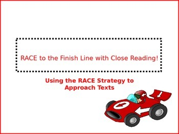 Close Reading with the RACE Strategy