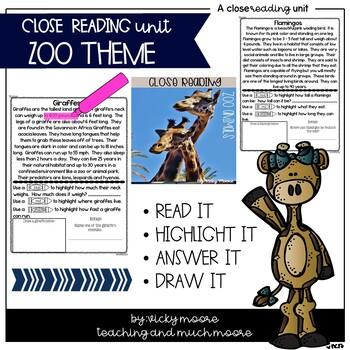 Close Reading zoo themed
